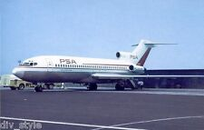Pacific Southwest Airlines Boeing 727 jet airplane postcard