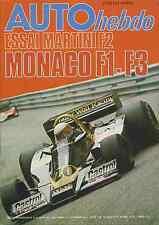 AUTO HEBDO n°64 du 25 Mai 1977 GP MONACO ESSAI MARTINI F2