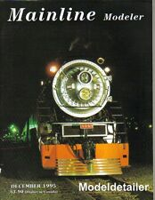 Mainline Modeler Dec 95 F&SM Sellios Pennsy Rock Island UP SD40-2 Trackwork USRA