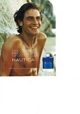 PUBLICITE ADVERTISING  2001   NAUTICA    parfum homme LATITUDE LOGITUDE