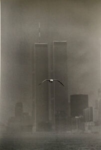 1979 Signed Louis Stettner Photograph Twin Towers with Seagull