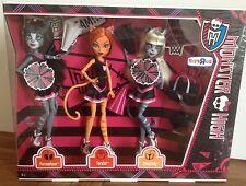 Monster High fearsquad Fearleading 3 Pack Toralei Meowlody Werecats poupée Entièrement neuf dans sa boîte