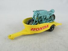 Matchbox Lesney 38 Honda Motorcycle and trailer with motor stand