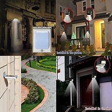 Solar Powered 16 LEDs PIR Motion Sensor Garden Security Lights Wall Lamp Outdoor