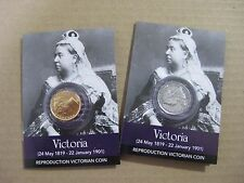 Queen Victoria Coin Packs - Gold Sovereign And Shilling