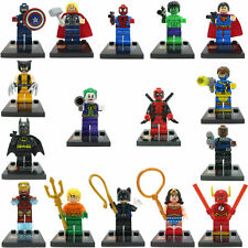 16 PCS Set Marvel Avengers Super Hero Deadpool Batman Mini Figure Fits Lego