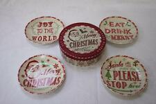 Certified International Joy to the World Canape Plates - Set of 4
