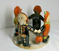 Yankee Candle Halloween Pumpkin Skeleton Kids Jar Holder Ronnie Walker  *AS IS*