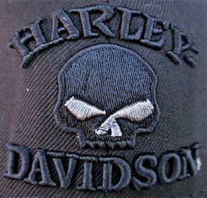 Harley Davidson New Era 59fifty Wool Embroidered Skull Logo Fitted Hat Sz. 7 XS
