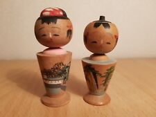 Vintage Japan Made 2(two) Kokeshi dolls (7cm)