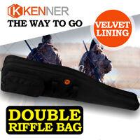 """KENNER 48"""" Double Gun Rifle Bag 600D Foam Case Storage Shotgun Hunting Shooting"""