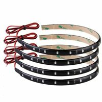 4 x flexible 15 LED Strip Light 30cm Orange Waterproof for Car Motorcycle S H7R8