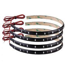 4 x flexible 15 LED Strip Light 30cm Orange Waterproof for Car Motorcycle S H7R8