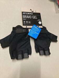 ! Giro Bravo Gel Adult Large Cycling MTB Bike Bicycle Gloves Black