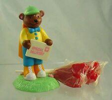 Avon 1993 Louie Lollipop Bear W/ 3 Heart Lollipops Nib