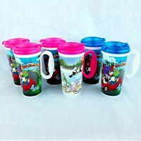 Lot Of 6 Walt Disney World Parks Souvenir Refillable Travel Mugs Whirley