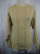 Mens GANT Tan Cotton Cable/Rib Knit Hand Framed Crew Neck Jumper Sweater sz XL