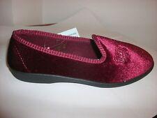 Mirak Simone Burgundy Textile Slipper Size 7