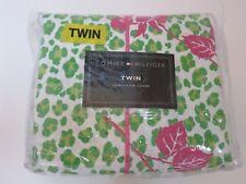 Tommy Hilfiger Pamela Twin Leopard floral duvet cover New Lime green pink
