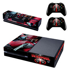 Marvel Deadpool For Xbox One Console Skin Decal Sticker + 2 Controller Skins Set