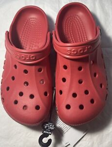 New Women's CROCS Red Shoes Clogs Size 7 FREE SHIPPING