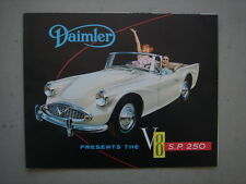 DAIMLER  S.P. 250  V8  sports car  brochure  1960.