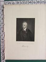 1844 Datierter Antik Aufdruck ~ Dudley Ryder ~ Earl Von