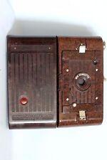 UNUSUAL KODAK No 2 HAWKETTE FOLDING CAMERA 120 ROLLFILM C 1930 +CASE GOOD (USED)