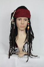 Exact Captain Jack Sparrow Pirate WIG w/ BANDANA hair dreadlock