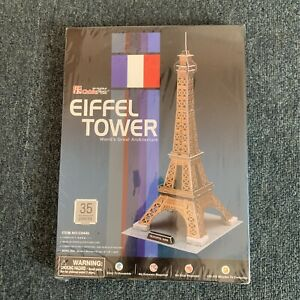 *New Sealed* Eiffel Tower 3D Puzzle - No Scissors Or Glue Required