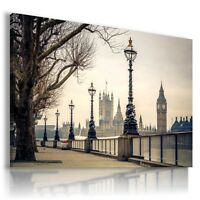 ENGLAND , LONDON , BIG BEN View Canvas Wall Art Picture Large SIZES  L124  X