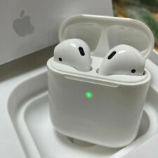 White AirPods 2nd Generation with Wireless Charging Case Earphone Earbud Headset
