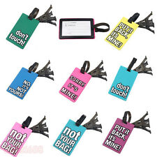1PC New Design Suitcase Luggage Tags ID Address Holder Silicone Identifier Label