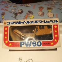 Used KOMATSU PW60 Wheeled excavator 1/40 Scale Vintage Mini car Yonezawa Toy