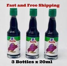 3 Bottles - MCCORMICK UBE  EXTRAC FLAVOR Purpplev20 ML BAKING FLAVORING