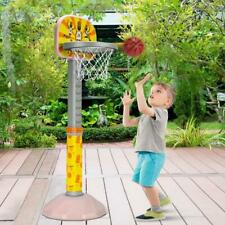 Kids Basketball Hoop Stand with Adjustable Height-Pink