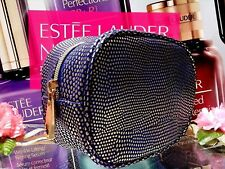 "ESTEE LAUDER Cosmetic Bag ☾Po Blue  & Gold Point☽Elegant Fashion "" FREE POST!! """