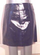 NEWLOOK GLOSSY BLACK Faux LEATHER PVC MINI SKIRT S uk10us6eu36 Waist w28in w71cm