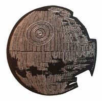 "Star Wars Death Star 4"" Wide Embroidered Iron On/Sewn On Patch PREMIUM QUALITY"