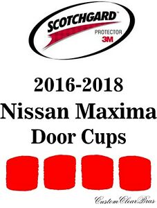 Clear Paint Door Handle Cup Protection Film for Nissan Maxima Sedan 2016-2018