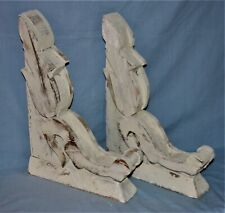 """Pair Architectural Salvage Wood Corbels  17"""" Tall"""