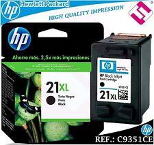 Ink Black 21xl Original Printer HP Cartridge Black Hewlett Packard C9351ce
