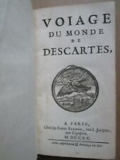 DANIEL : VOIAGE DU MONDE DE DESCARTES, 1720.
