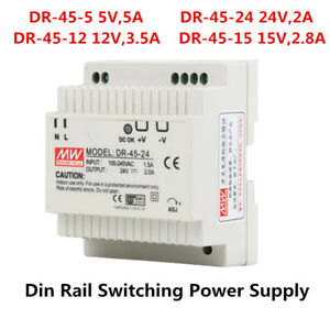 DR-45 45W 5V-24V Single Output Din Rail Switching Type Industrial Power Supply