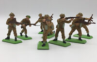 Britains Deetail, British Infantry -8 pieces-5 Poses Vintage Toy Soldiers