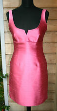 Women's BCBG Pink Designer Silk Dress UK 6