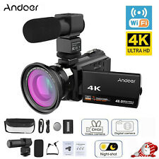 4K Ultra HD 48MP WiFi Digital Video Camera 16X Zoom IR Infrared DV Recorder Gift