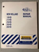 New Holland Windrower 18hb-36hb Repair Manual *86