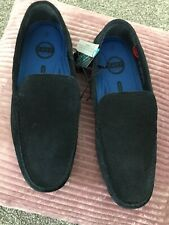 Mens Blue Real Suede Shoes Size 10  New,  Easy Wedding Smart Lightweight Shoes