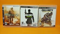 PS3 Sony Playstation 3 GAME Lot - Call of Duty Modern Warfare 2, 3, Advanced War
